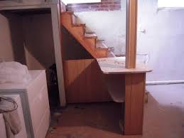 how to finish stairs basement amys office