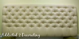How To Make A Tufted Headboard To Make A Tufted Upholstered Headboard