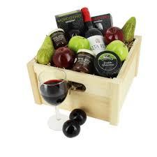 wine and cheese gift basket fresh fruit wine cheese chutney gift crate my gift hers