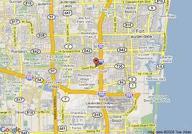 map of ft lauderdale map of hton inn fort lauderdale airport fort lauderdale