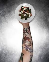 chefs show off their tattoos in