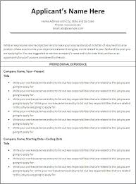 Free Chronological Resume Template Microsoft Word Sample Resume Format Download In Ms Word Education Teacher Resume
