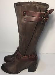 womens boots size 8 5 freebird by steven clive knee high leather size 8 brown