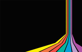 free colorful rainbow design backgrounds for powerpoint