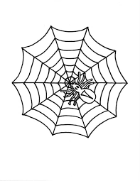 Little Spider On Spider Web Coloring Page Color Luna Web Coloring Pages
