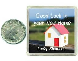 new home gift new home lucky sixpence good luck charm gift for moving house