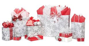 christmas shopping bags let it snow with snowflake bags boxes wrap ribbon