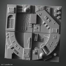 millenium falcon floor plan new star wars model kit releases