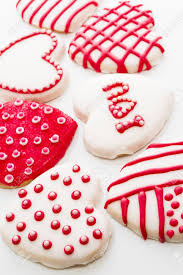 heart shaped cookies gourtmet heart shaped cookies decorated for s day stock