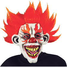 halloween mask clown clownin u0027 around fire clown mask walmart com