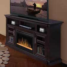 custom entertainment center with fireplace electric