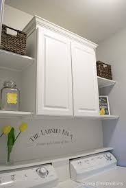 Cheap Laundry Room Cabinets Budget Laundry Room Makeover Reveal Open Shelves Laundry