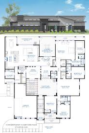 house plan with courtyard home architecture luxury modern courtyard house plan custom