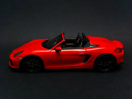red porsche boxster 2015 posche boxster spyder 2015 red 1 43 spark s4932 selection rs