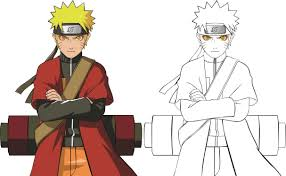 tutorial naruto tutorial line art naruto shippuden sage mode with coreldraw x7 by