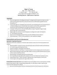 Building Maintenance Resume Sample by Young Resume Including Cover Letter Calgary March 2015
