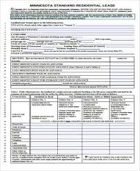 rental lease agreement form samples 9 free documents in word pdf