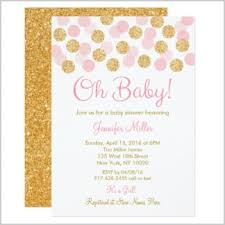 pink and gold baby shower invitations pink and gold baby shower invites ilcasarosf