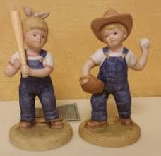 home interior denim days figurines homco ceramic figurine denim days children tractor collectible