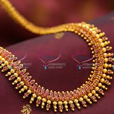 bead design jewelry necklace images Nl1018 beads design ruby gold plated haram long necklace fashion JPG