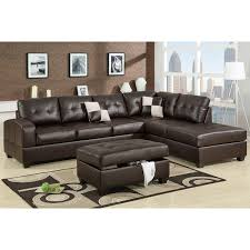 Sectional Sofas Free Shipping Berane Reversible All Around Bonded Leather Sectional Free