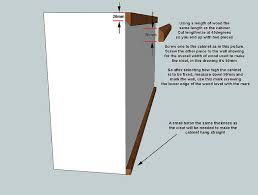 how to hang a cabinet to the wall cleat how to make cleat kitchen layout