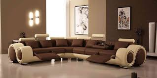 what is the best color to paint a living room with brown furniture