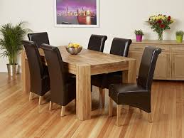 Oak Dining Table And Fabric Chairs Design For Oak Dinning Table Ideas 26249