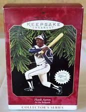 hallmark 1997 hank aaron keepsake ornament 2nd in at the ballpark