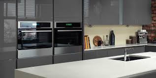 magnet integra grey with island with recessed black sink kitchen
