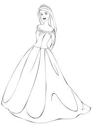 coloring barbie wedding dress