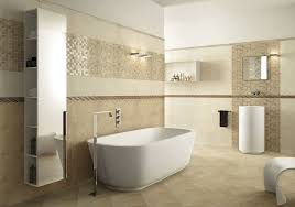 bathroom freestanding bathtub and shower faucet with wall texture