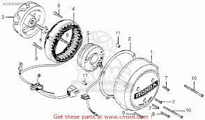 honda cb550 four cb550k3 1977 usa alternator schematic partsfiche