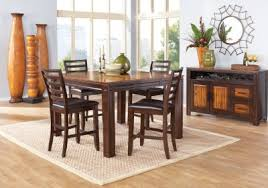 rooms to go white table adelson chocolate 5 pc counter height dining room intended for table