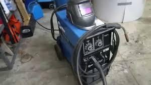 millermatic 250 welding set up youtube