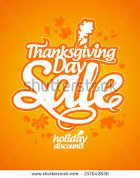 thanksgiving day sale design template stock vector 114162091