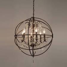 attractive round sphere chandelier chandelier inspiring dining