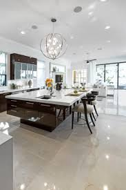 best 25 modern kitchen island ideas on pinterest modern large modern white and dark brown kitchen with huge modern island with breakfast bar