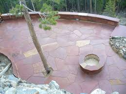 Stone Patio Images by Fort Worth Grass U0026 Stone Colorado Red Flagstone