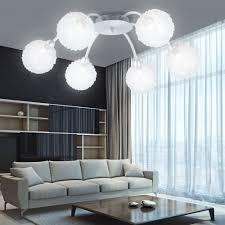 Wohnzimmer Lampen Modern Deckenleuchte Deckenlampe Kugeln Alu 6 Flammig Modern Schwenkbar