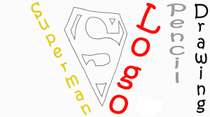 draw superman logo easy pencil kids paper
