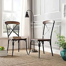 Cross Back Dining Chairs Nelson Industrial Modern Rustic Cross Back Dining
