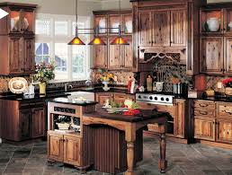 rustic kitchen ideas island with stove and sink beige tile