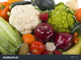 different kinds vegetables fruits background stock photo 3248345