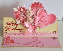 special birthday card paper blossoms