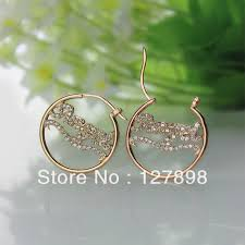 name plated earrings freeshipping gold plated silver birthstone cut name