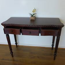 Hallway Table With Drawers Mahogany Hall Table Interior Design