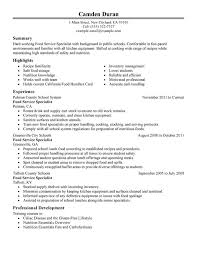 Stand Out Resume Unforgettable Food Specialist Resume Examples To Stand Out Resume