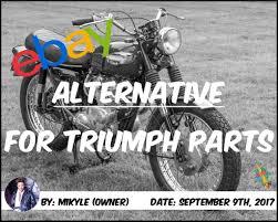ebay alternative for triumph parts u2013 classic british spares