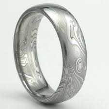 stainless steel wedding bands damascus stainless steel wedding band 7mm by mokumedamascusrings